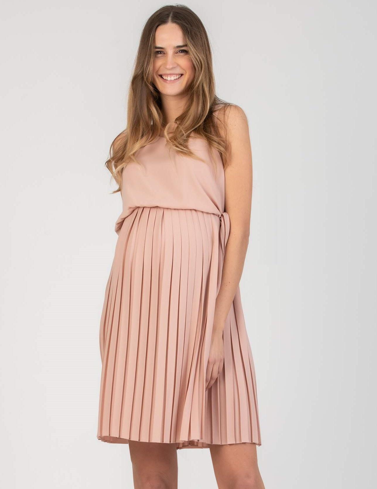 ärmelloses Umstandskleid Stillkleid rosa