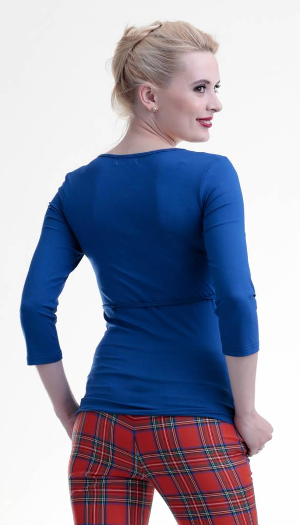 Umstandsshirt - Stillshirt royalblau