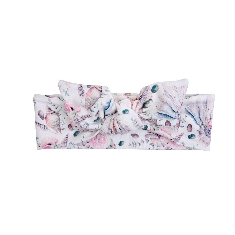 Haarband rosa mit Muscheln