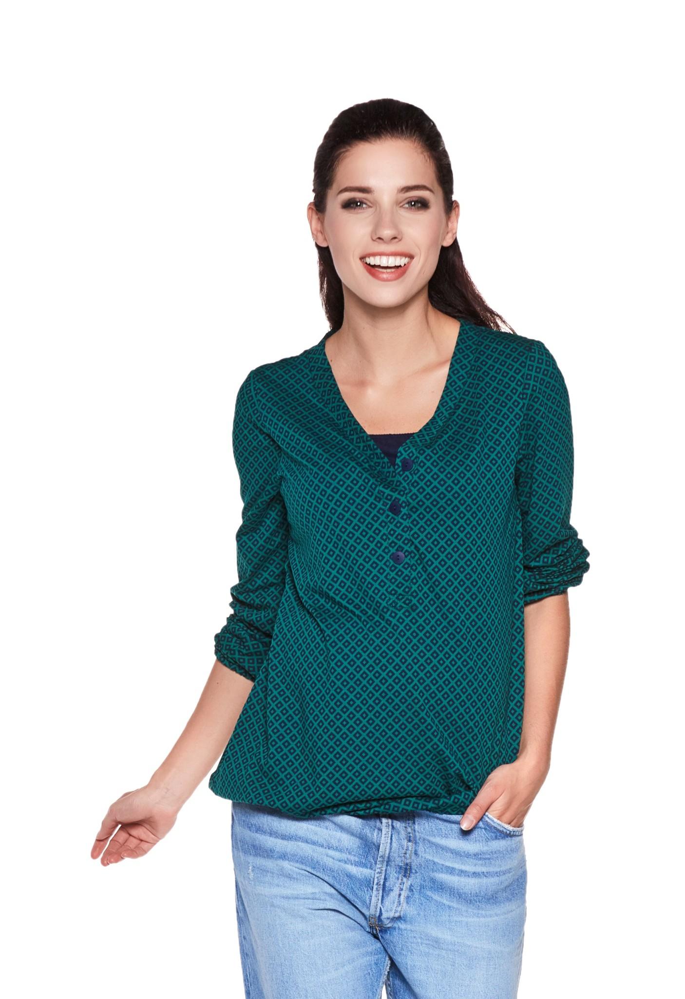 Umstandsshirt Stillshirt grün dunkelblau