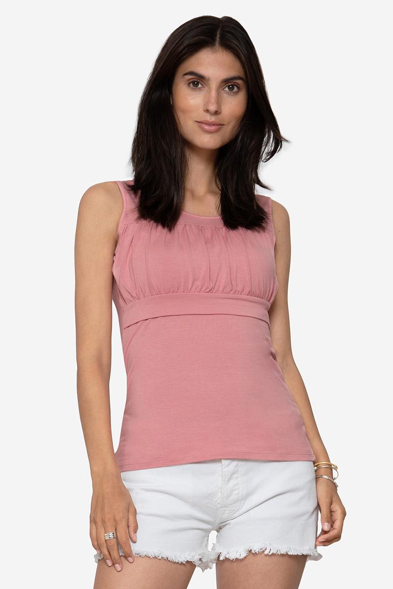 Umstandsshirt Stillshirt rosa Bambus