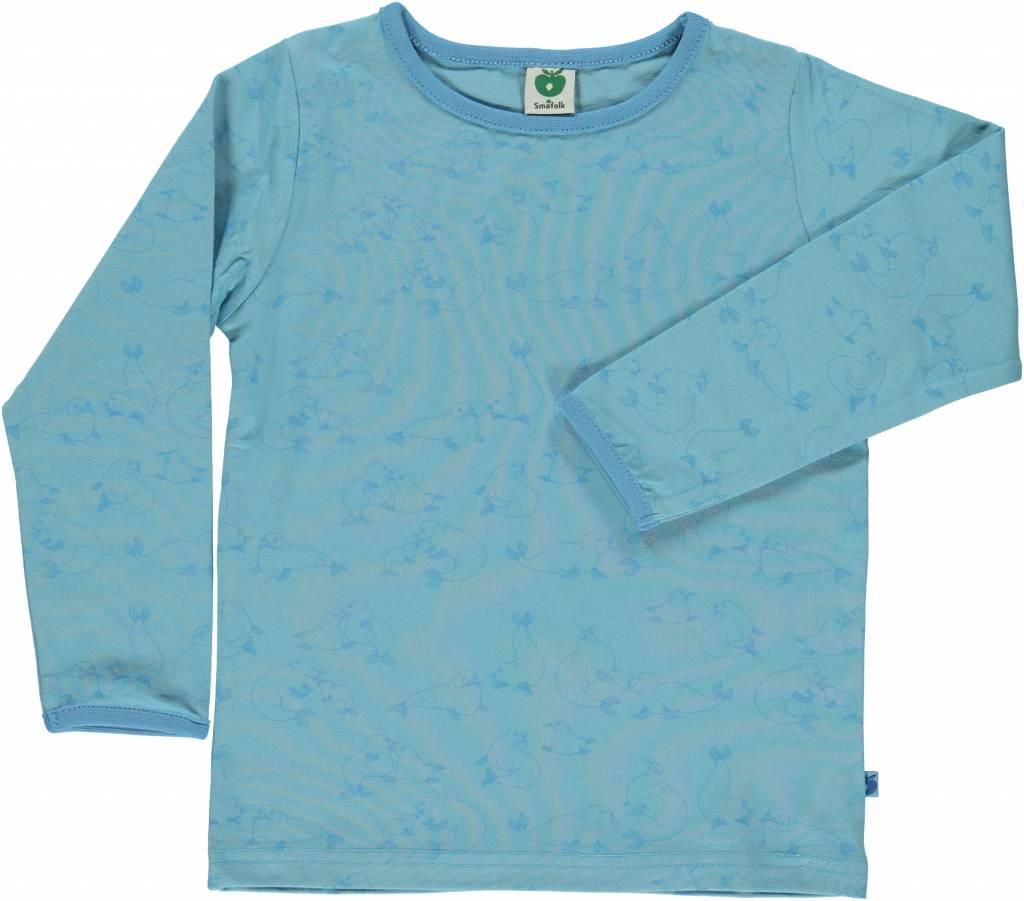 blaues Langarmshirt Seelöwe