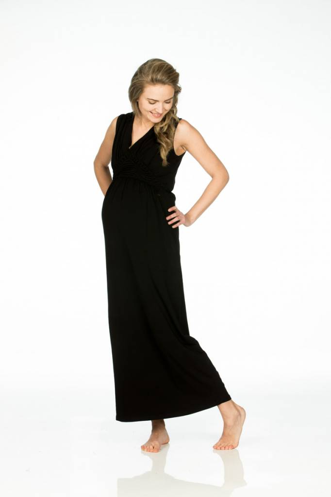 Umstandskleid Maxi schwarz