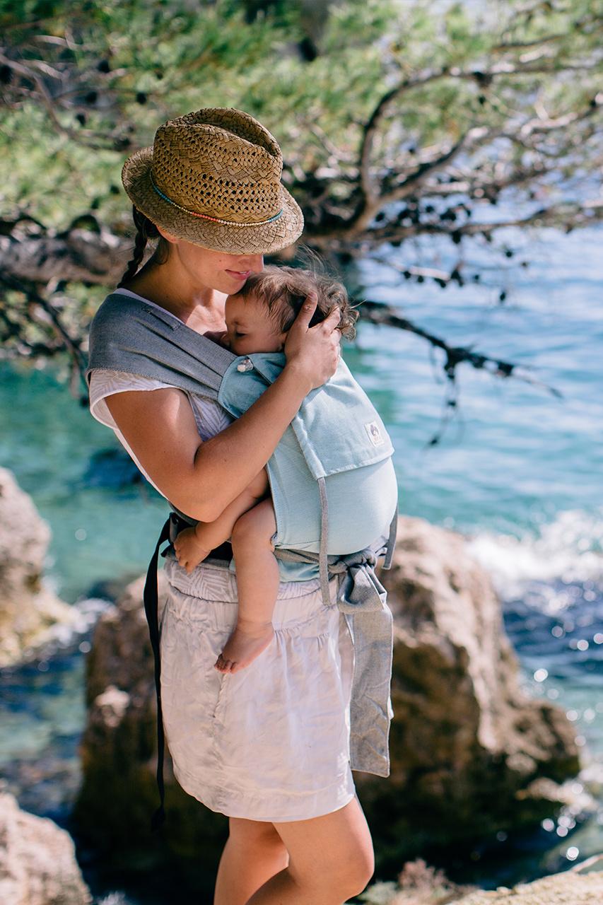 Limas Babytrage türkis/grau