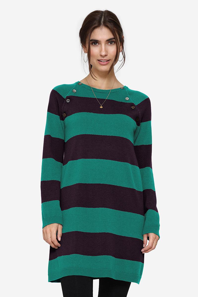 Umstandskleid Stillkleid Wolle grün/blau