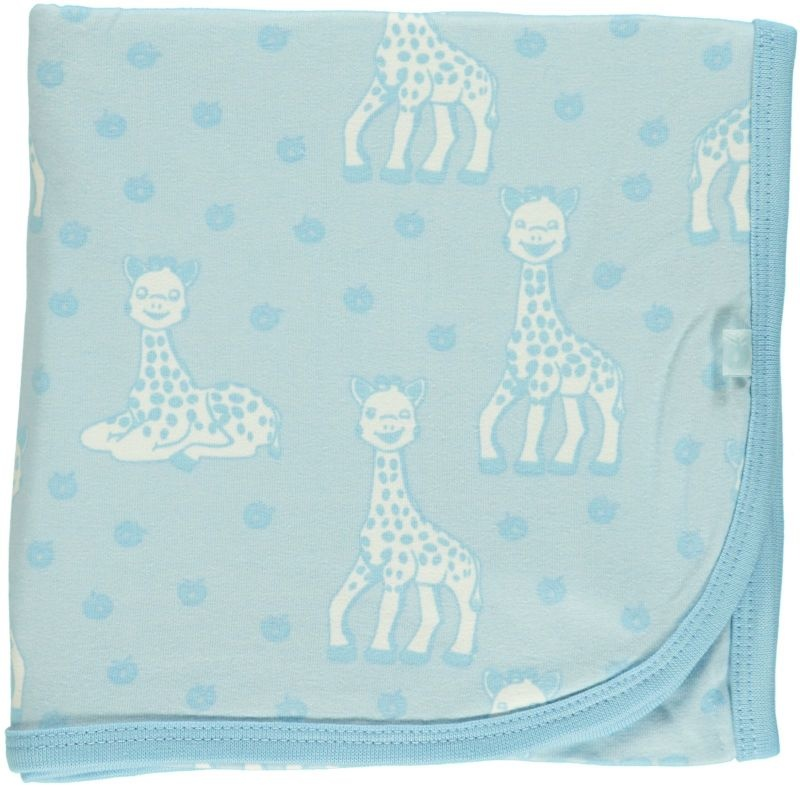 Babydecke Sophie la girafe blau