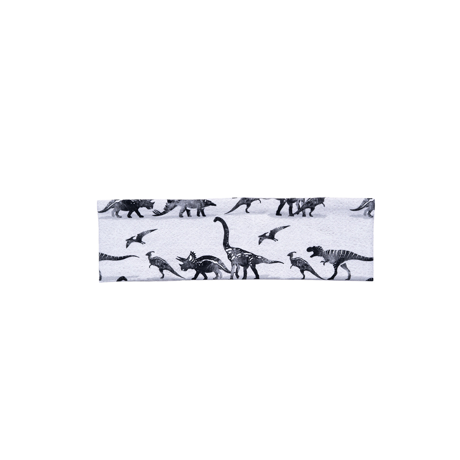 Haarband grau mit Dino