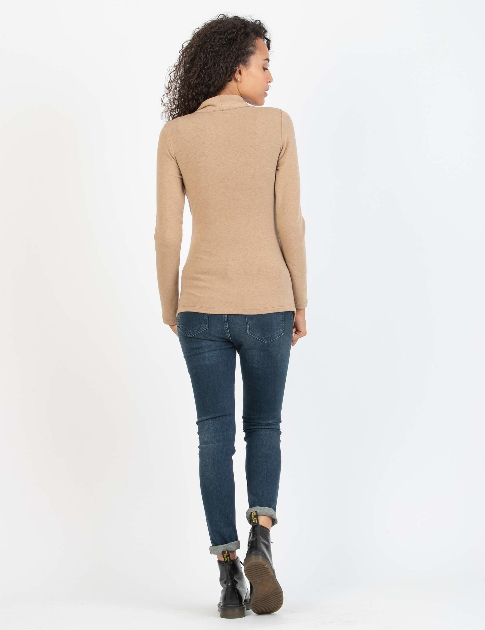 Umstandsshirt Stillshirt camel