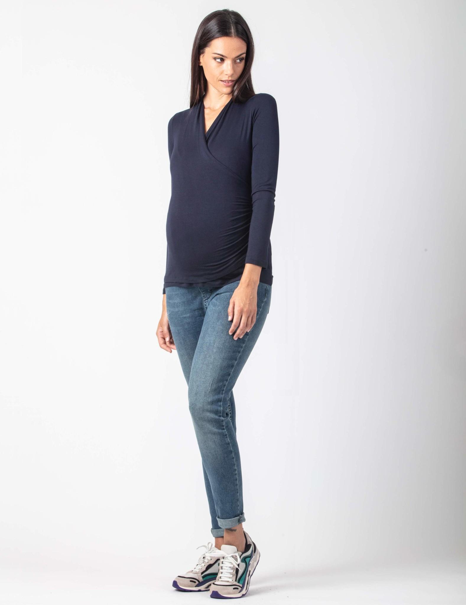 Umstandsshirt Stillshirt dunkelblau