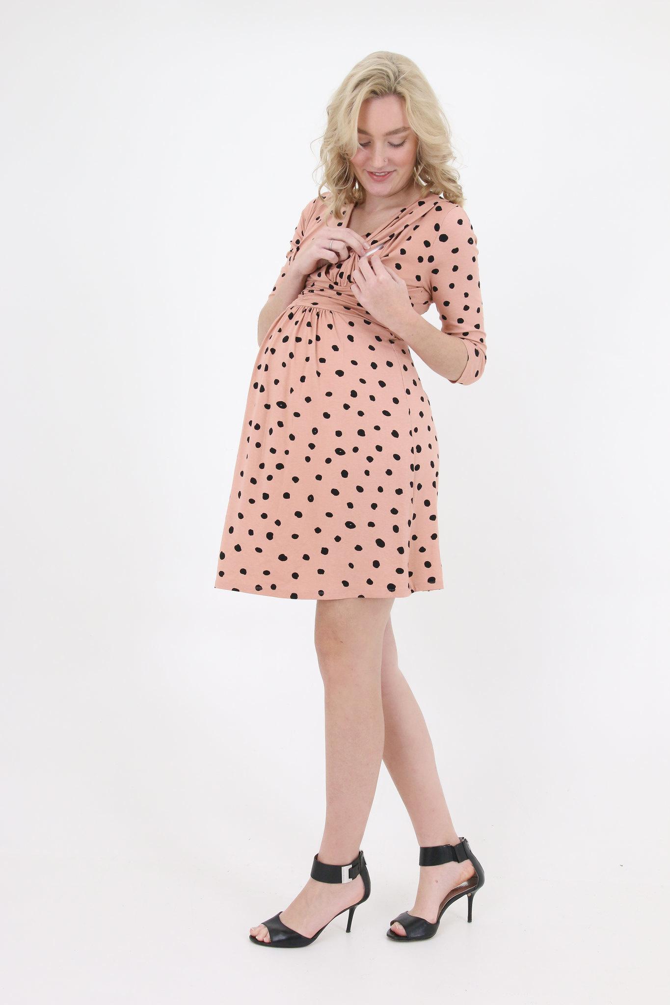 Umstandskleid  Stillkleid rosa dots