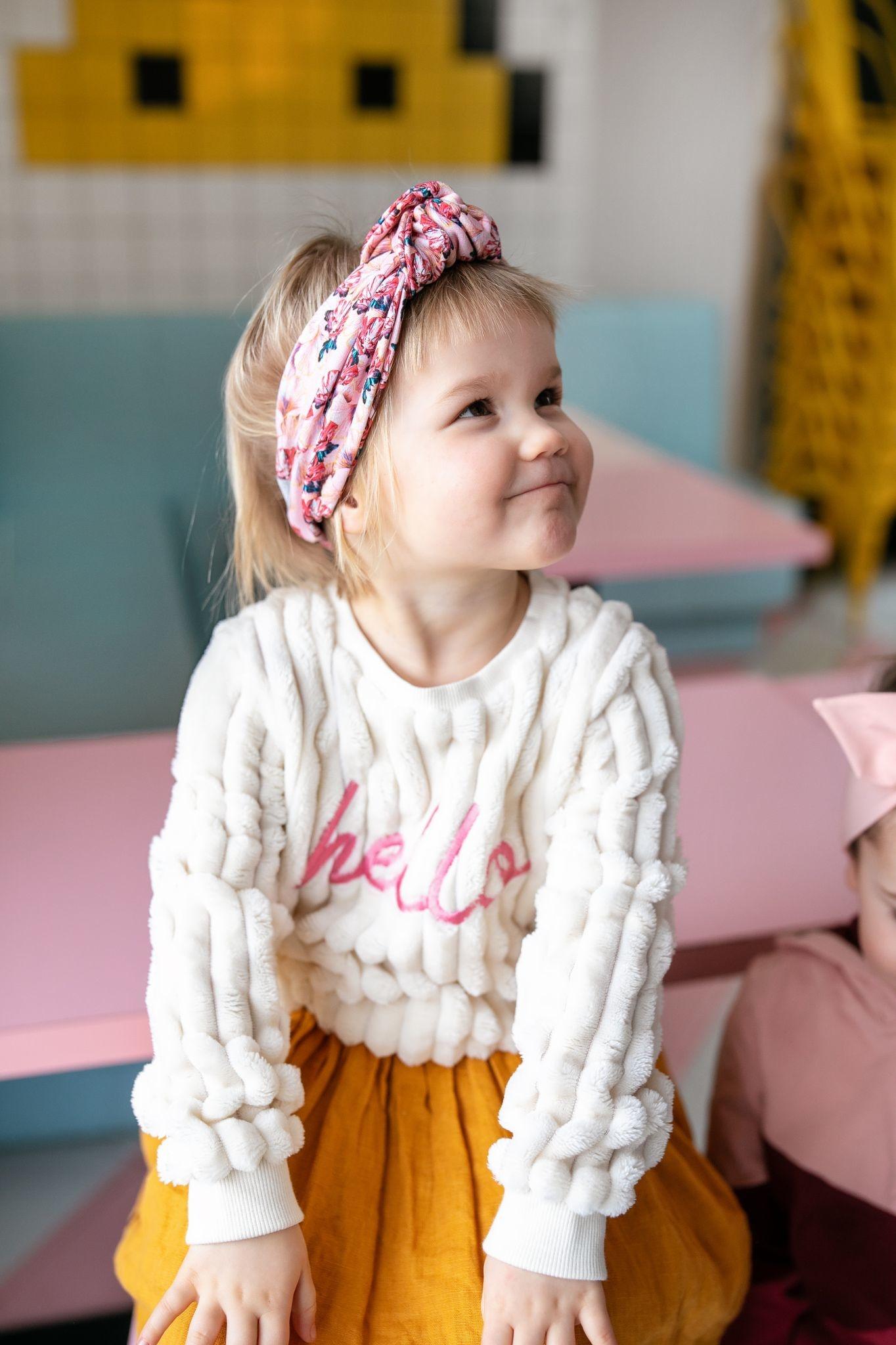 Haarband rosa mit Ginkgo